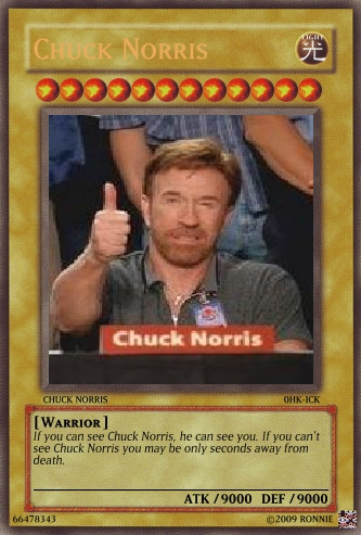 Chuck Norris Yugioh Card