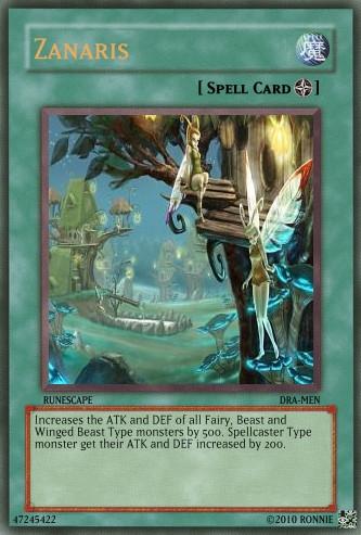 Zanaris Yu-Gi-Oh Card by Ronnie-R15