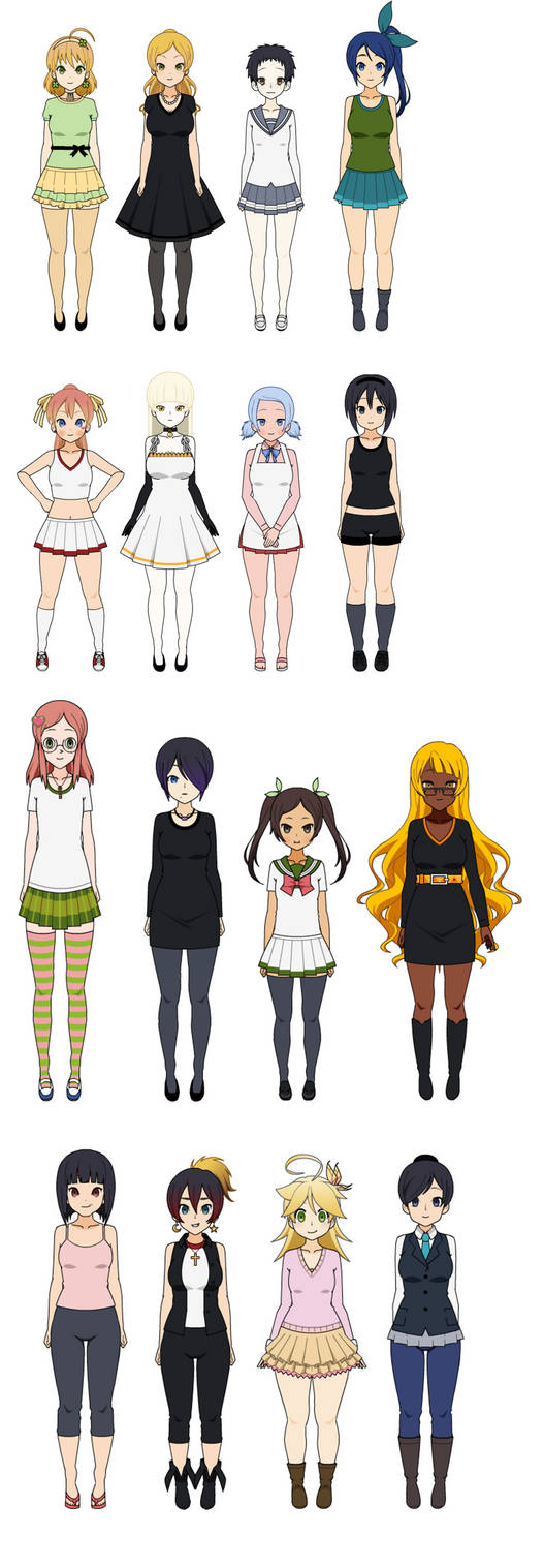 uLTRA dANGANrONPA sISTERS Cast by Bloomberry15 on DeviantArt