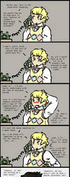 Crowley and Aziraphale: Phone Call by bookwormcat