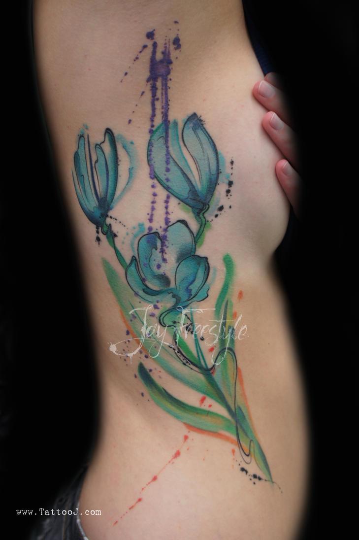 Tulip tattoo jay freestyle by jayfreestyle on deviantart for Amsterdam tattoo artists