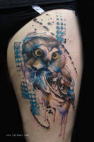Owl tattoo - Jay Freestyle 2 by JayFreestyle