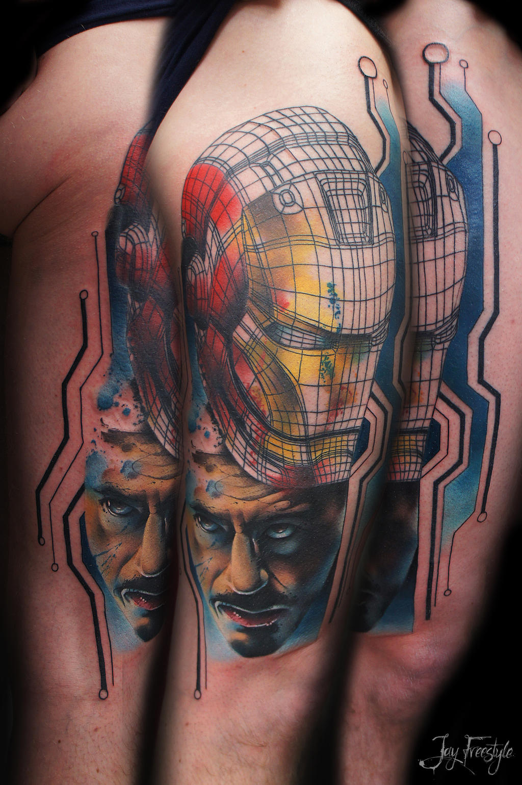 Iron Man Chest Piece Tattoo | www.imgkid.com - The Image ...