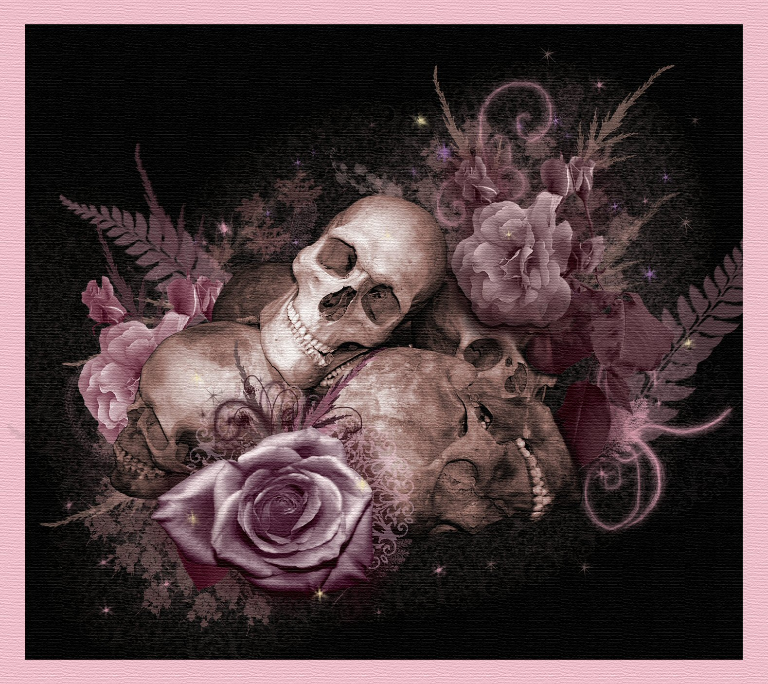 skull and roses wallpapers - photo #13