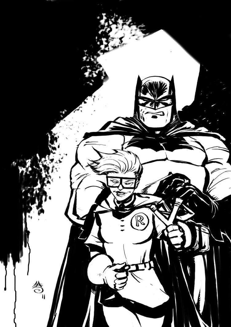 Batman and Robin by FrancescoIaquinta