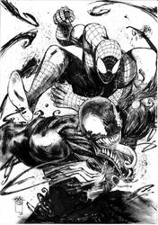 Spiderman vs Venom by FrancescoIaquinta
