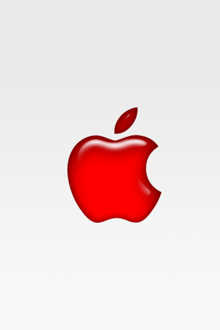 iPhone Red Apple Wallpaper by Haqn