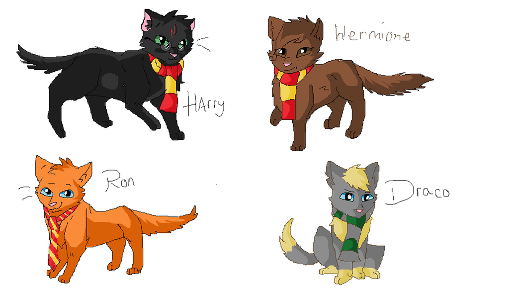 Harry Potter Cat designs by TheHufflepuffCat