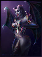 DotA 2, Queen of Pain by DariaDesign
