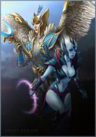 DotA 2, Skywrath Mage n' Vengeful Spirit by DariaDesign