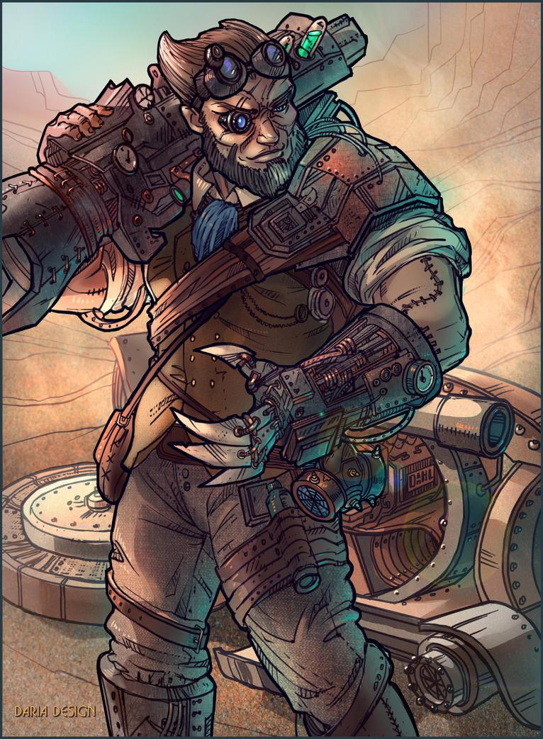 Borderlands: The Pre-Sequel, Wilhelm #2 by DariaDesign on DeviantArt