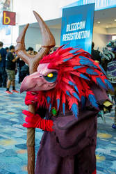 Arakkoa Cosplay Blizzcon 2014 by Kazulgfox