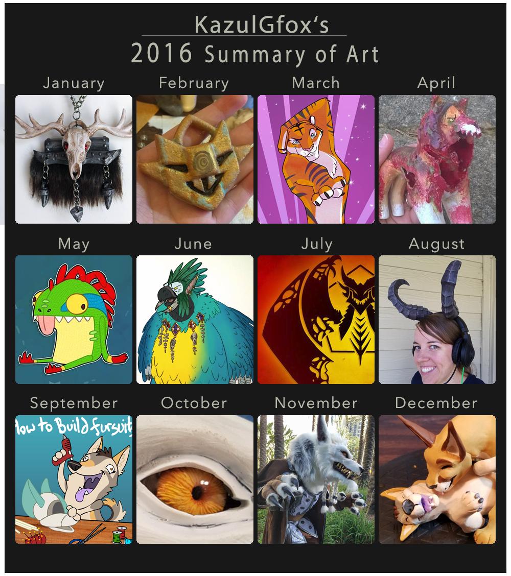 Kazulgfox 2016 Summary of Art by Kazulgfox