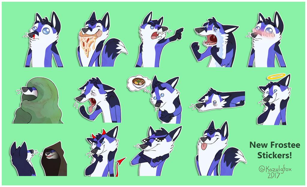 New Frostee Telegram Stickers by Kazulgfox