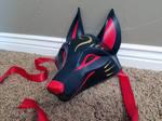 Traditional Black Kitsune Mask