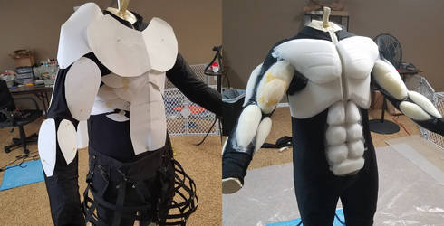 Goatman Muscle suit WIP