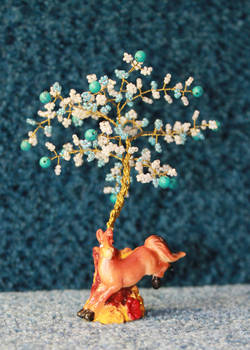 A little turquoise wishing tree