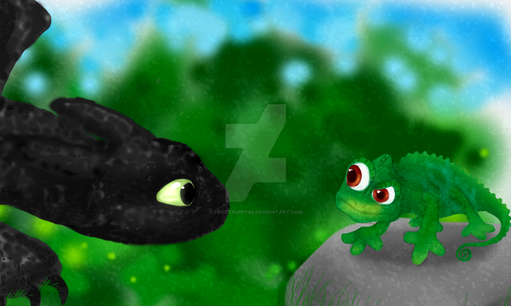 Pascal and Toothless by FrostPuppy96