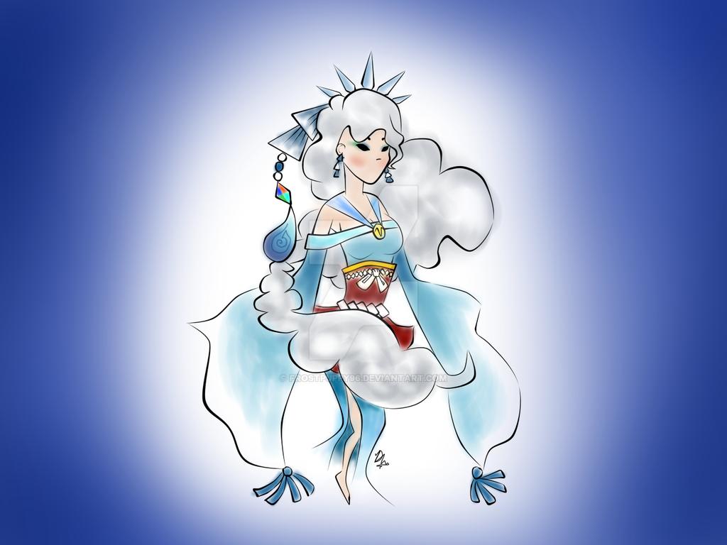 Winter Okami Spirit by FrostPuppy96