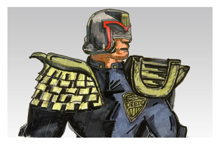Judge Dredd Character Sketch by tanman1