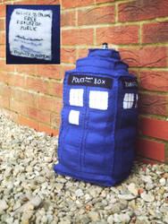TARDIS plushie by campervanfrog