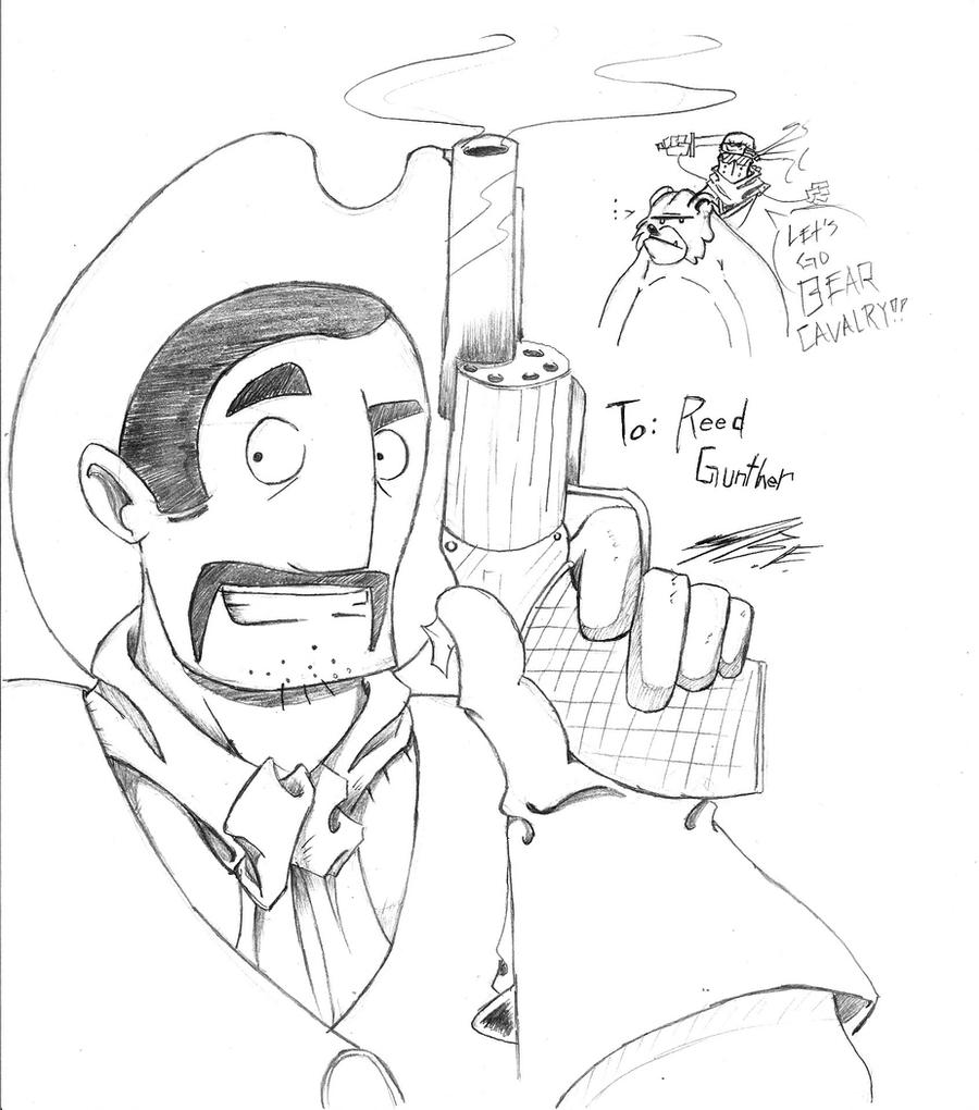 Reed Gunther Sketch by Borishehe