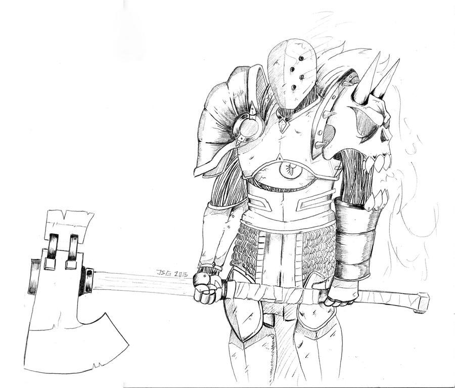 BERSERKER Re-Draw by Borishehe