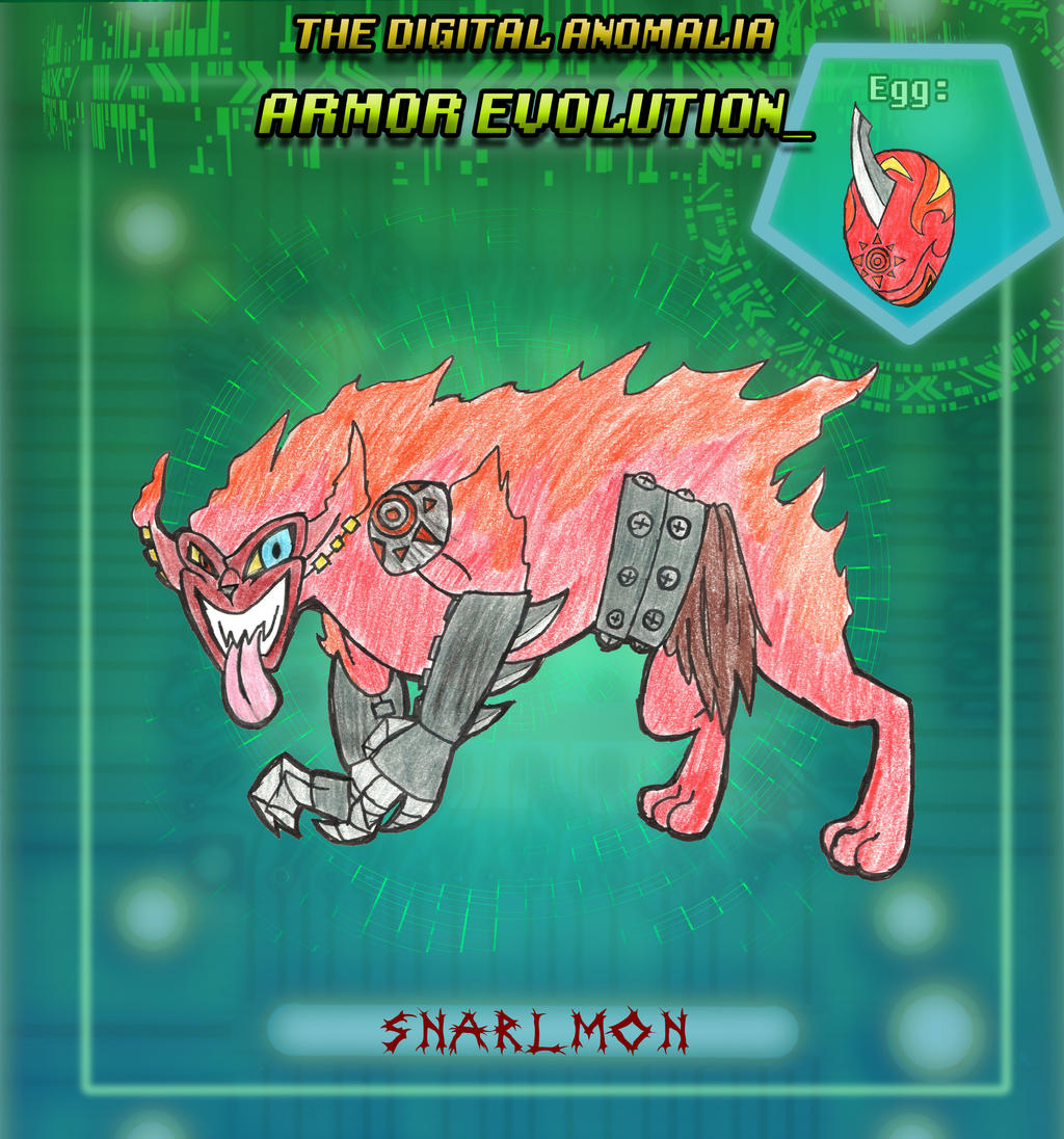 TDA - Eekmon Armor Digivolve To - SNARLMON! by TheRaven-King