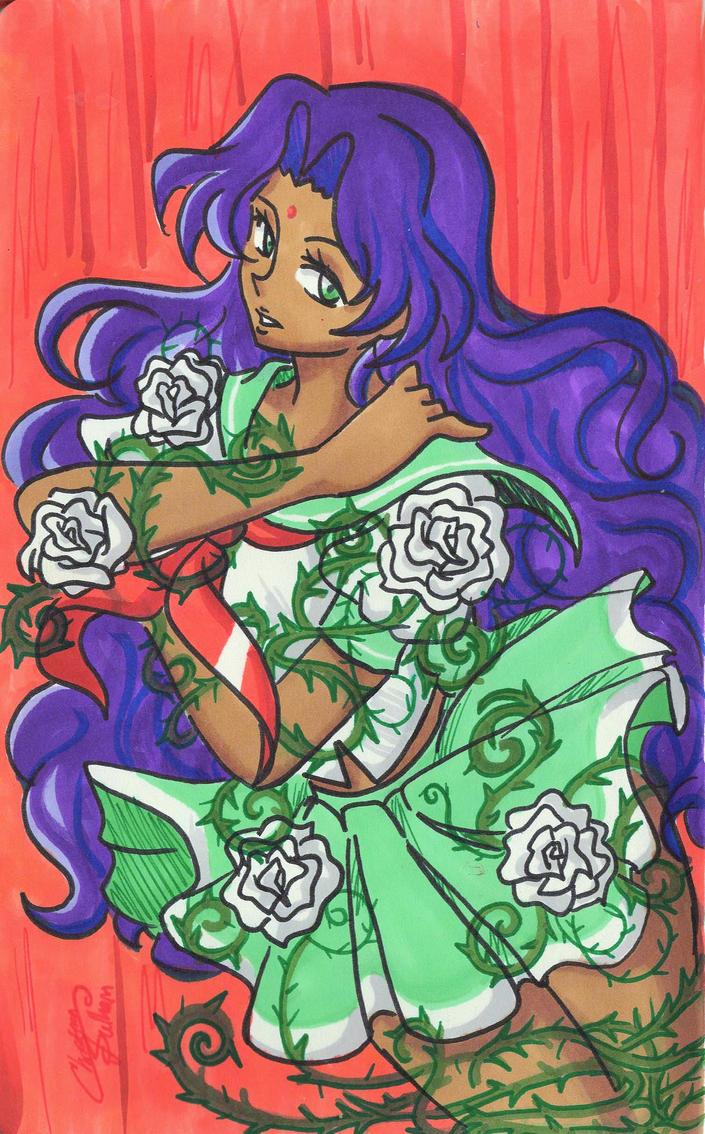 The rose bride by teneelilangel