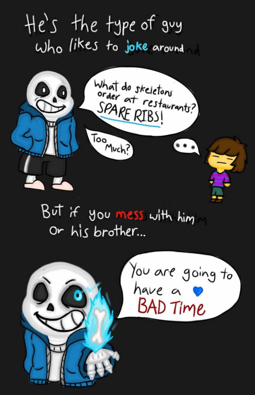 Sans bad time joke