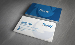R-way logo and business cards by DesignMeBranding
