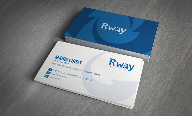 r way logo and business cards by designmebranding