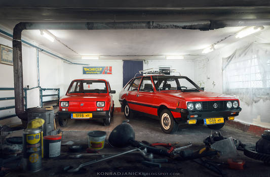Fiat 126p Maluch and FSO Polonez