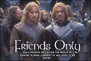 Friends Only in Gondor by darth-cena