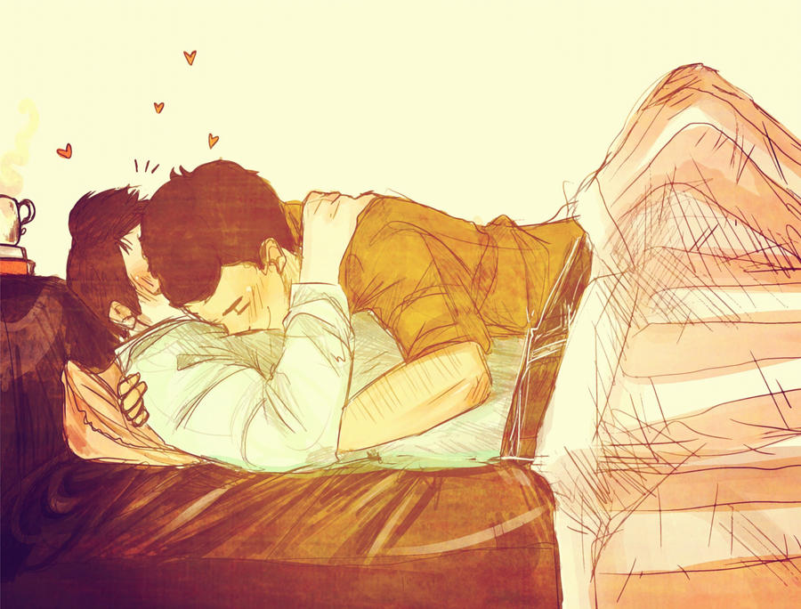 Klaine: Cuddling by Snowfest on DeviantArt