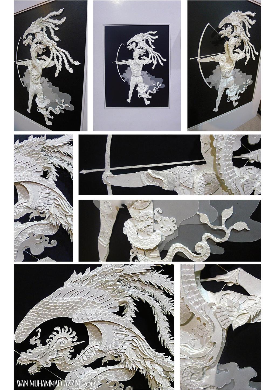 Archery 3D Paper Art by Howazzim