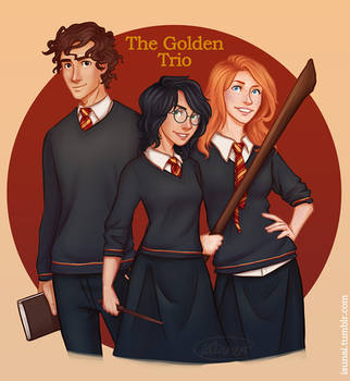 The golden Trio genderbend by Isuani