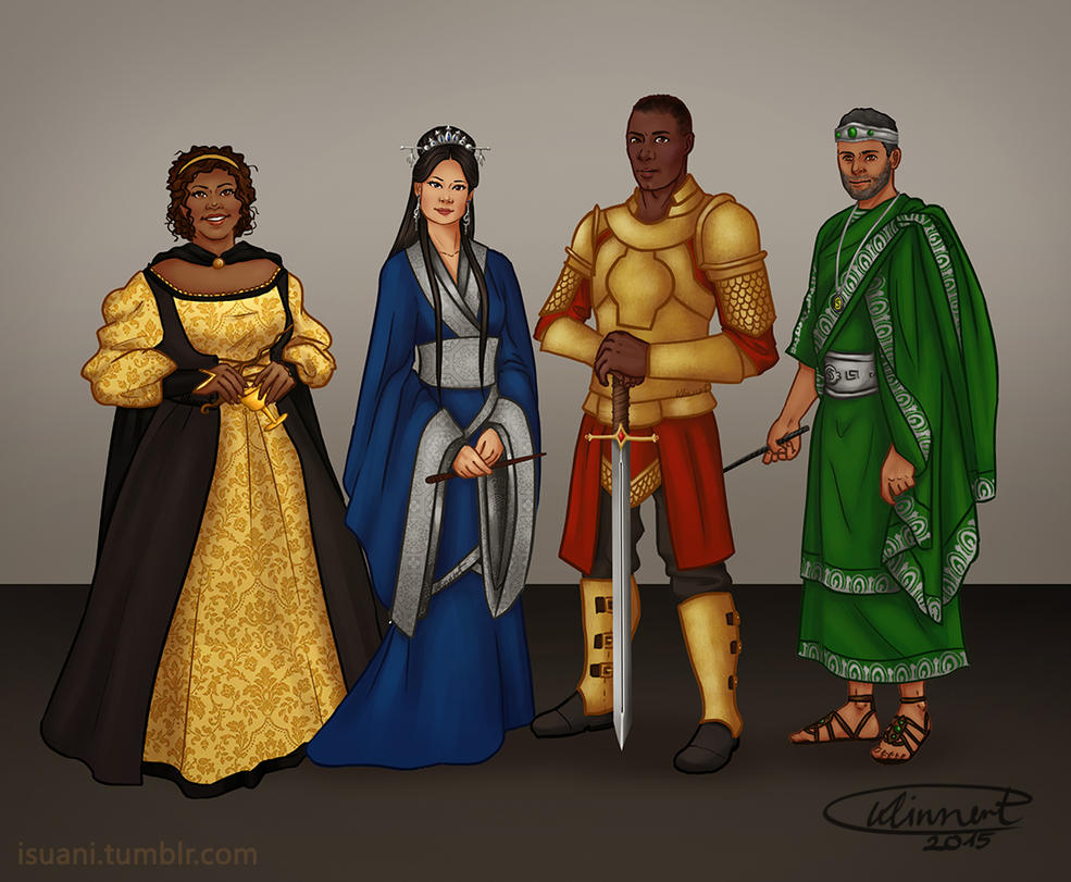 Hogwarts Founders Racechange by Isuani on DeviantArt