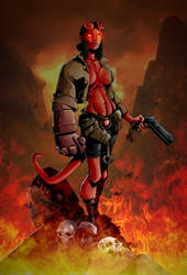 Hellgirl by RandyGreen3 by shaundobie