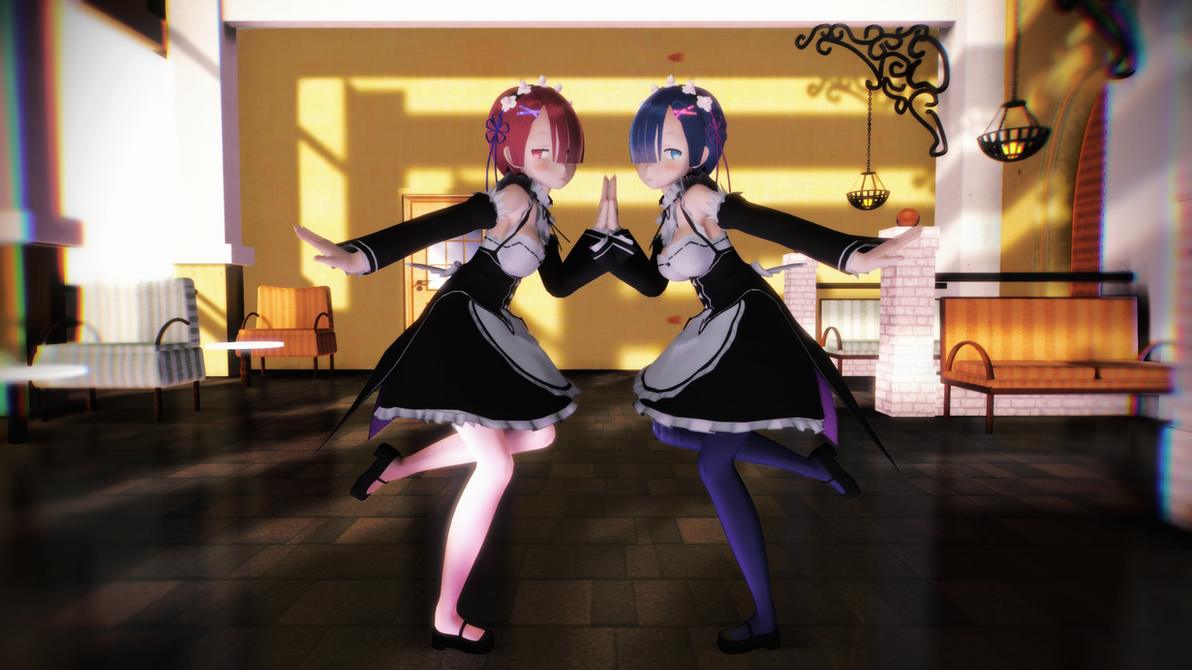 [MMDVIDEO] Ram and Rem - Girls [4KUHD] by CegooK