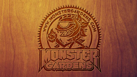 Monster Gardens Wood Wallpaper