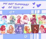 MY ART SUMMARY OF 2019! :P by UntitledAnimations