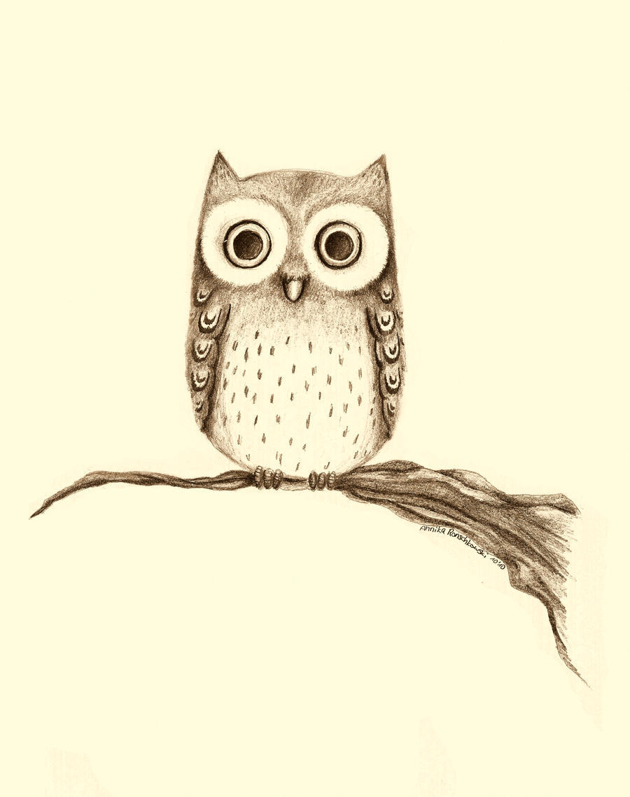 Owl by misssaya on deviantart for Cool drawings of owls