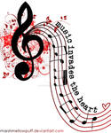 Music invades the heart