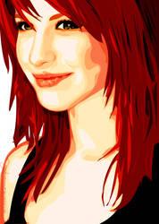 Hayley Williams Vector by Marshmellowpuff