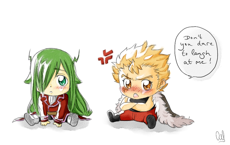 Freed and Laxus - Chibi style by Kogiku on DeviantArt