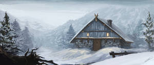 Snow Hut by waywalker