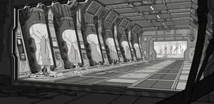 Sci-Fi Horror - Main Linework by waywalker