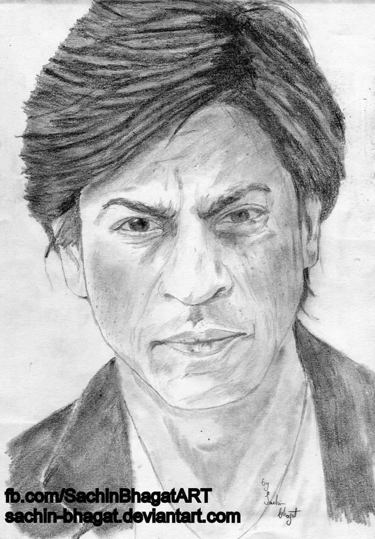 Shahrukh khan sketch by sachin bhagat on deviantart