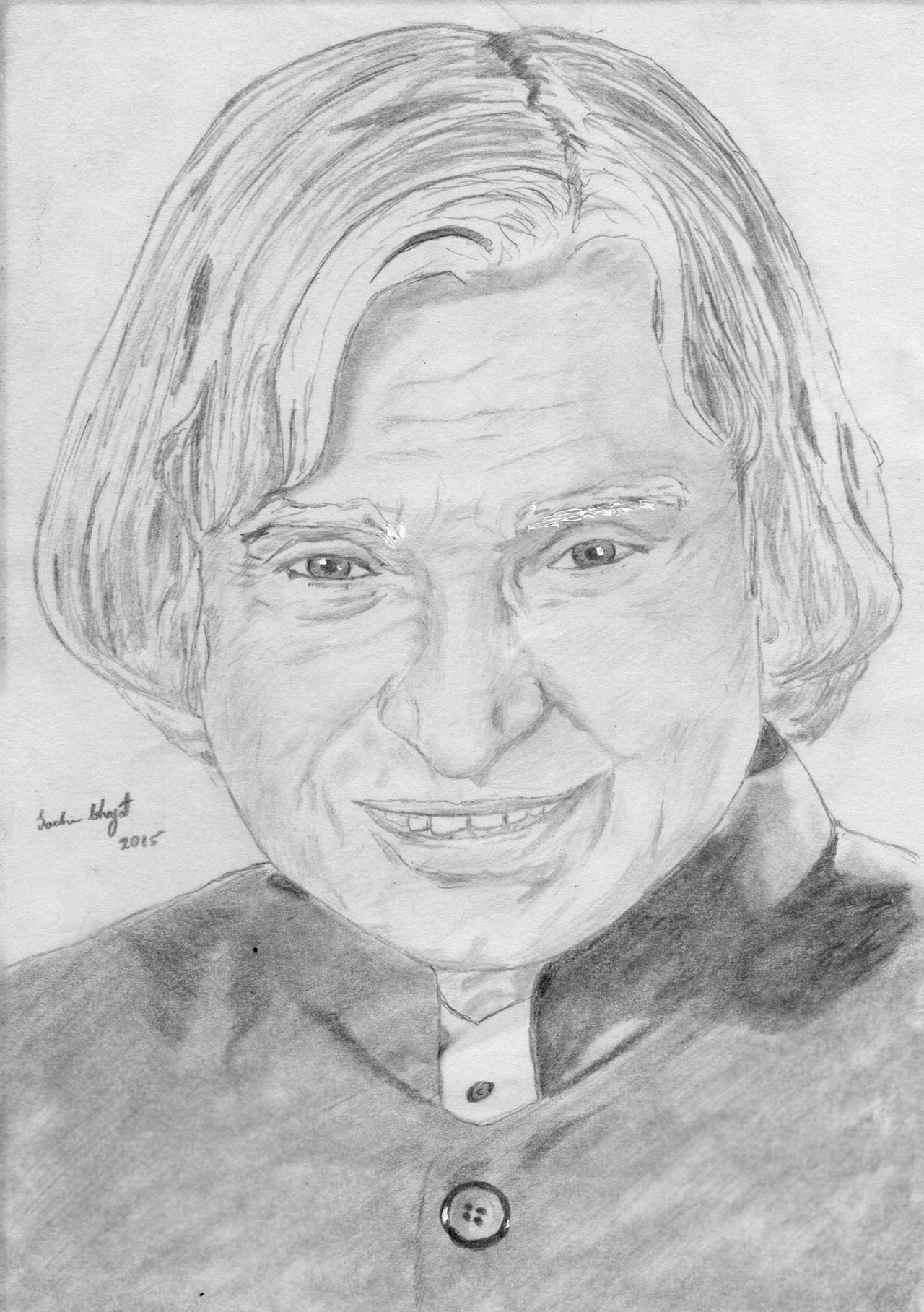 A.P.J Abdul Kalam Pencil Sketch by Sachin-Bhagat on DeviantArt